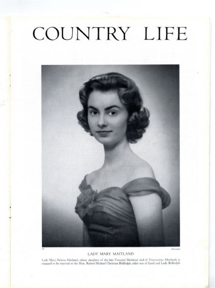 1957 COUNTRY LIFE Magazine MAITLAND BIDDULPH Crowe Hall Stutton HAZLEWOOD CASTLE YORKS(0813)